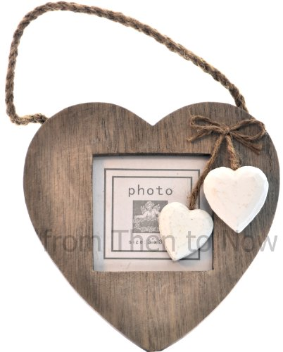 Hanging Wooden Heart 3X3 Photo Frame