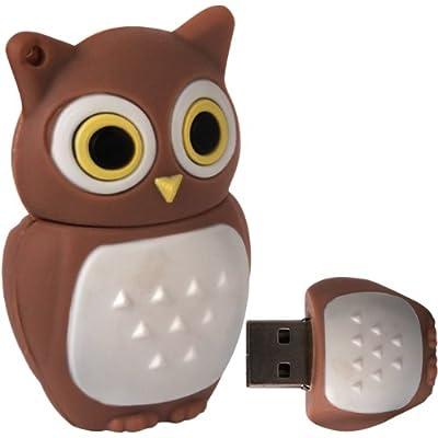 Cnl 8gb Brown Owl Usb 2.0 Data Flash Drive Memory Stick Device by Checknet London