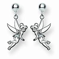Disney Jewelry Tinker Bell Charm Earrings - Sterling Silver from Disney Jewelry