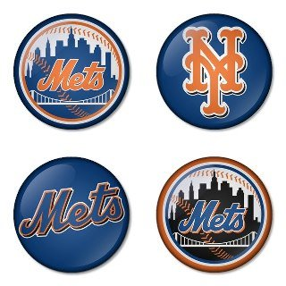 "New York Mets MLB Round Badge 1.75"" Pinback at Amazon.com"
