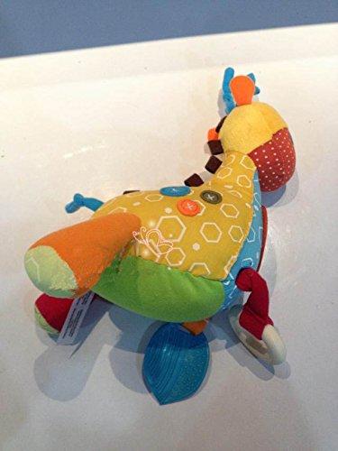 Giraffe Activities Baby Rattle Toy 0-12Months Mirror Kids Newborn Gift Soft Plush Toy front-918402