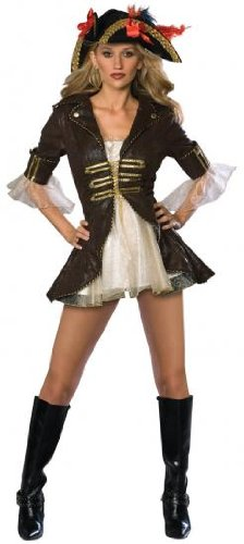 Rubies Buccaneer Pirate Secret Wishes Adult Fancy Dress Costume X Small