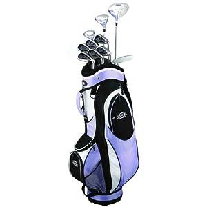 Golf Girl FWS2 LILAC Lady Hybrid Club Set & Cart Bag