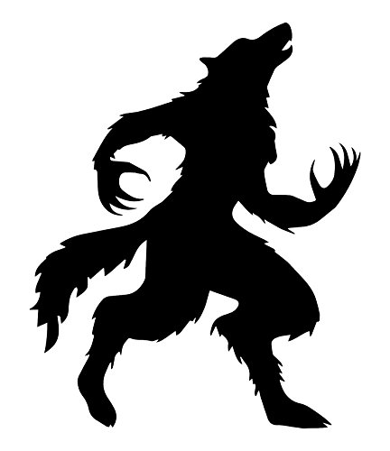 Best Werewolf Decal, For Your Haunted House Collection or Halloween Gifts, Includes FREE E-book of 10 Halloween Songs, Made In The USA, Easy To Apply And Removable BROWN Vinyl