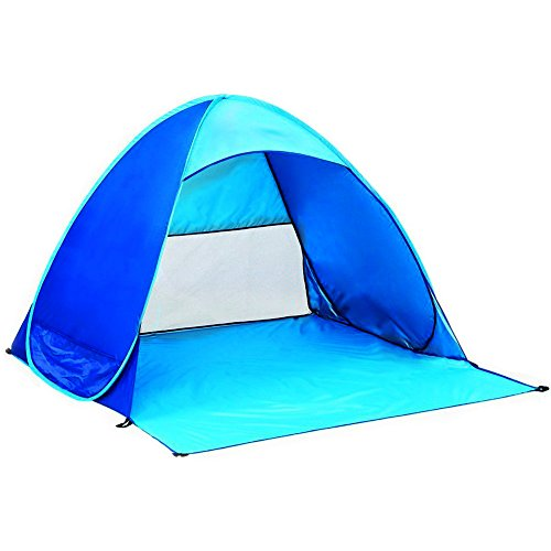 Automatic Pop Up Instant Tent iHomor Portable Outdoors Quick Cabana Beach Tent Sun Shelter Blue
