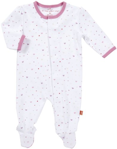 Magnificent Baby Baby-Girls Newborn Footie, Hearts, 9 Months