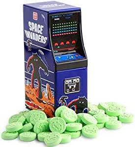Space Invaders Sour Apple Alien Candy Arcade Cabinet Tin