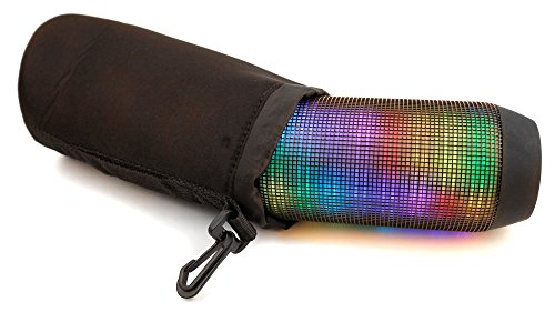 DURAGADGET Padded Black Pouch for JBL Pulse & JBL Charge 2 Portable Bluetooth Speaker w/ Belt Clip