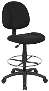 Boss Drafting Stool, Black