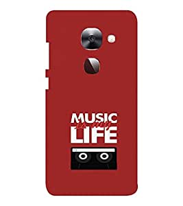 EPICCASE Music is Life Mobile Back Case Cover For LeEco Le Max2 (Designer Case)