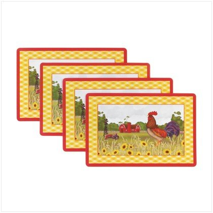 4 PC ROOSTER VINYL PLACEMAT - Buy 4 PC ROOSTER VINYL PLACEMAT - Purchase 4 PC ROOSTER VINYL PLACEMAT (WGC, Home & Garden, Categories, Kitchen & Dining, Kitchen & Table Linens, Place Mats, By Style, Novelty)