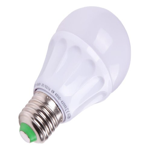 Torshare 4W E27 Led Bulb Light 20W Incandescent Lamp Replacement 4014 Smd Neutral White(4250K) 380Lm(Lumen) Indoor Light