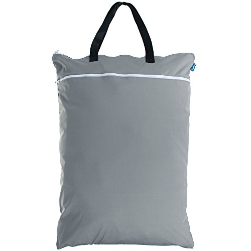 Teamoy Travel Hanging Wet Dry Bag(24.718 inches) for Cloth Diapers Organizer Tote Bag (XL, Slate) (Wet Bag Travel compare prices)