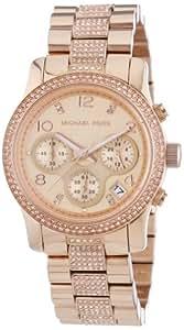 Michael Kors Damen-Armbanduhr Chronograph Quarz Edelstahl MK5827