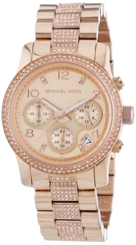 Michael Kors MK5827 Rose Gold Steel Bracelet & Case Mineral Women's Watch