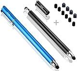 B&D スタイラスペン2本 ペン先交換式2in1タッチペン+10pcs交換用ペン先 タッチスクリーン対応
