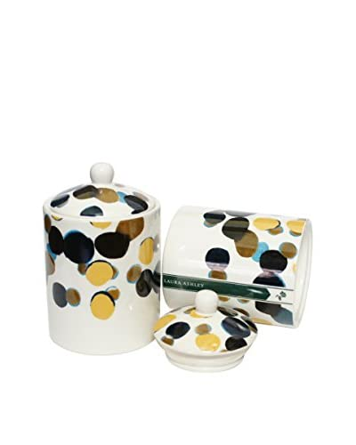 Laura Ashley by Thompson Ferrier 15.5-Oz. Driftwood White Spotty Jar Candle with Lid