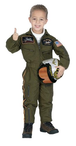 Imagen de Jr. Fuerzas Armadas Traje Piloto con Casco, tamaño 4/6