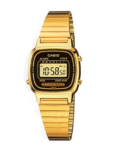 Casio gold plated digital watch LA670WGA-1DF