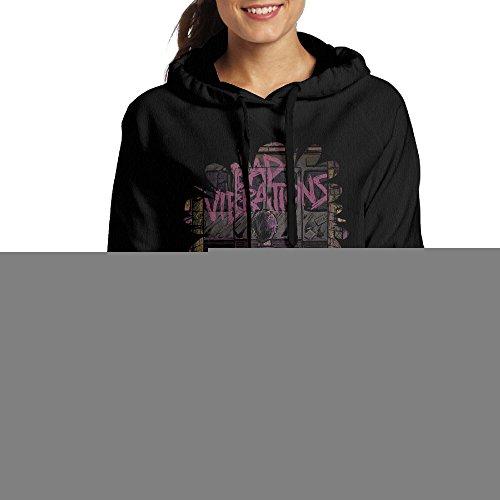 NUBIA Women's Long Sleeve Bad Vibrations Hood Black M