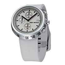 Issey Miyake Midsize SILAT004 White Trapezoid: AL Collection Chronograph Watch
