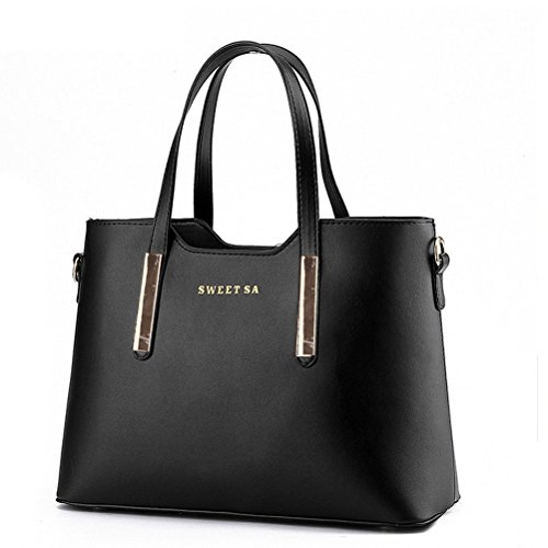 Fashion-Road-PU-Leather-Womens-Shoulder-Bags-Top-Handle-Handbag-Tote-Purse-Bag