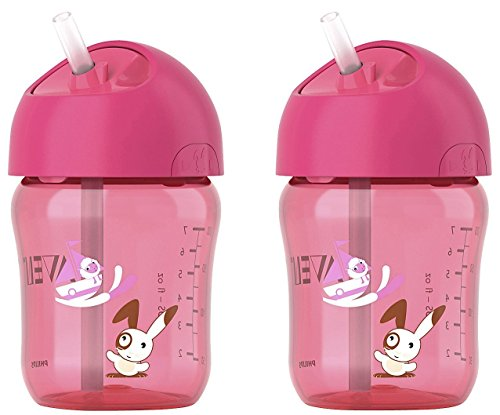 Philips AVENT Straw Cups 9oz 12m+ - Pink - 1