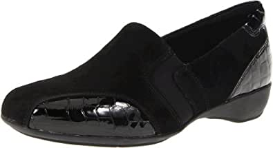 Clarks Women's Artisan Noreen Will Slip-On Loafer,Black,5.5 M US