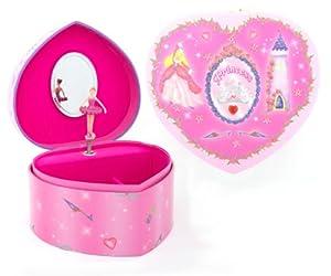 Lucy Locket Princess Heart Musical Jewellery  Box