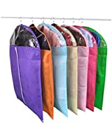 Moolecole-Hangerworld Pack of 5 Clear Zipped Suit Bags Garment Clothes Covers Three Sizes Color Random