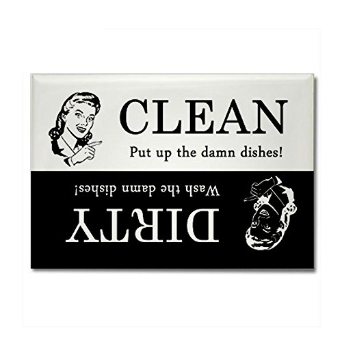 CafePress - Dirty / Clean Dishwasher Rectangle Magnet - Rectangle Magnet, 2