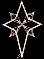 """22"""" Lighted Star of Bethlehem Christmas Window Silhouette Decoration by Impact Innovations"""