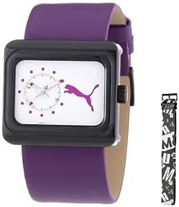 Puma Time Damen-Armbanduhr Change Purple Analog Quarz Leder PU102442002