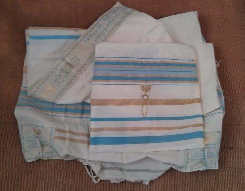 Messianic Light Blue Tallit Talit Prayer Shawl 72
