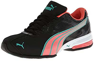 PUMA Women's Tazon 5 NM Cross-Training Shoe,Black/Dubarry/Green,5.5 B US