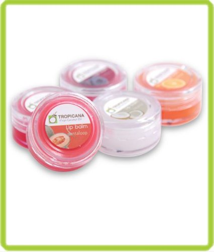tropicana-virgin-coconut-oil-lip-balm-cherry-orange-blue-berry-cantaloupe-vibrant-coconut-odor-10g-x