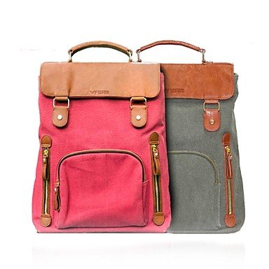 """Zcl Vfeng 14"""" Fashion Double Color Canvas Laptop Case , Dark Green , 14 Inch"""