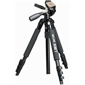 Slik Compact Alloy Travel Tripod with 3-Way Pan Head