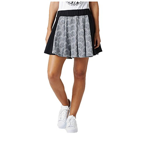 Adidas Originals Womens Shell Pleated Skirt-White/Black