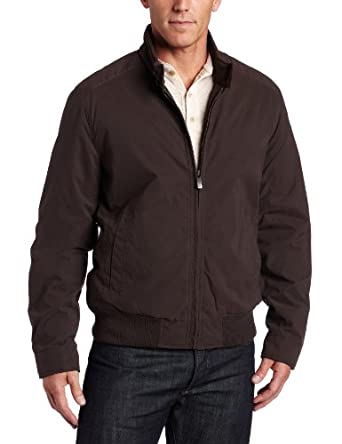 Dockers Men's Microtwill Bomber Jacket, Brown, XX-Large at ... |Dockers Lightweight Jacket