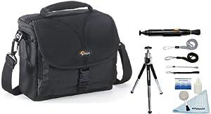 Lowepro Rezo 160 AW Shoulder Bag + Accessory Kit For Canon EOS Rebel SLR T3/T3i/T2i/T1i/EOS 1D MARK III/1D MARK IV/1DS MARK II/5D/7D/20D/30D/40D/50D/60D/XS/Xsi/Xti/ Olympus Evolt E-3/E-5/E30/E410/E420/E450/E520/E620/E411/PEN E-P1/E-P2/E-P3/E-PL1/E-PL1s/E-PL2/E-PL3 Sony Alpha SLT-A55V/L/A390/A580/A560/A65/A55/A35/A33/A33L/A900/A100K/A230L/A290/A300K/A330L/A350K/A380L/390L/A500/A500L/A550L/A580L/A700K/NEX3/NEX5 DSLR Digital Cameras