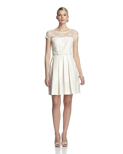 Taylor Women's Lace Top Dress with Bow