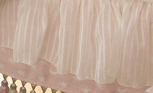 Glenna Jean Isabella Crib Skirt, Pink/Cream