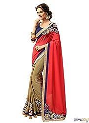 Pragya creations Women's Chiffon Saree (Prag06_Multi)
