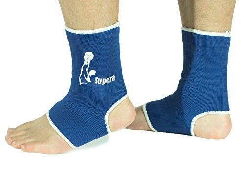 SUPERA Fußbandage elastisch Fußgelenkbandage MMA, Martial Arts 1 Paar Schützbandage Knöchelbandage Sprunggelenkbandage Kickboxen