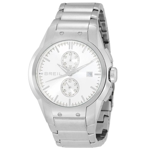 Breil Men's Urban Quartz Watch TW0600 with Silver Multi Function Dial, Date, Stainless Steel Case and Bracelet