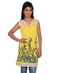 Ninelions fashions Yellow & biscuit colour top