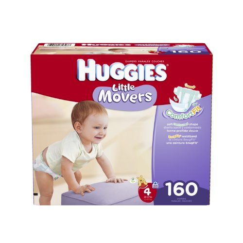 Huggies Little Movers Diapers Economy Plus, Size 4, 160 Count (Packaging May Vary) front-23075