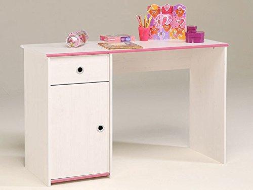 Schreibtisch Bürotisch 121x77x50cm, weiß / pink + blau, Arbeitstisch Computertisch Snoopy 8 jetzt bestellen