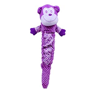 Plush Puppies Shakeable Squeaker Toy, Monkey